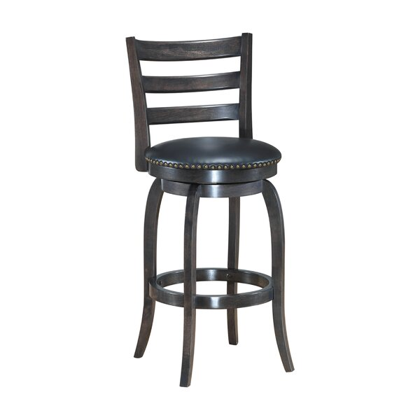 Mackinnon Wooden Swivel Bar Stool by Gracie Oaks