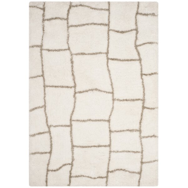 Shead Hand-Tufted Ivory/Silver Area Rug by Wrought Studio