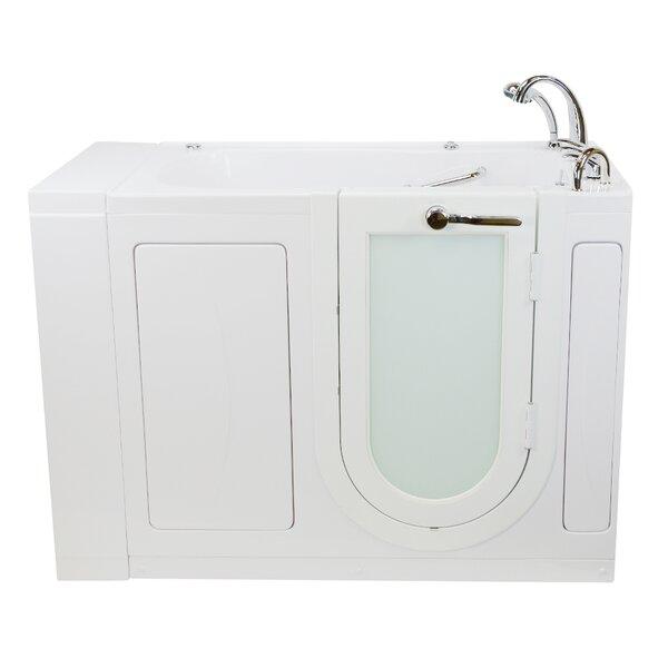 Monaco Hydro Massage and Microbubble 52 x 32 Walk in Whirlpool Bathtub with Fast Fill Faucet Set by Ella Walk In Baths