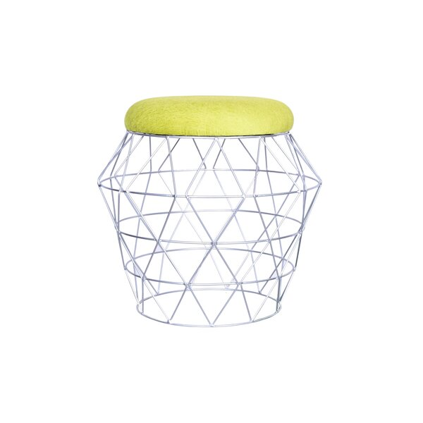 Carling Wire Vanity Stool by Ivy Bronx