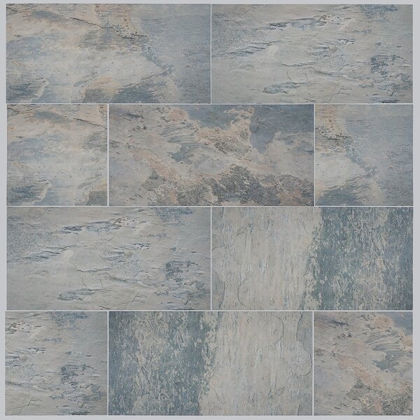 Arriba 12.5 x 24.5 Porcelain Field Tile in Gray by EliteTile