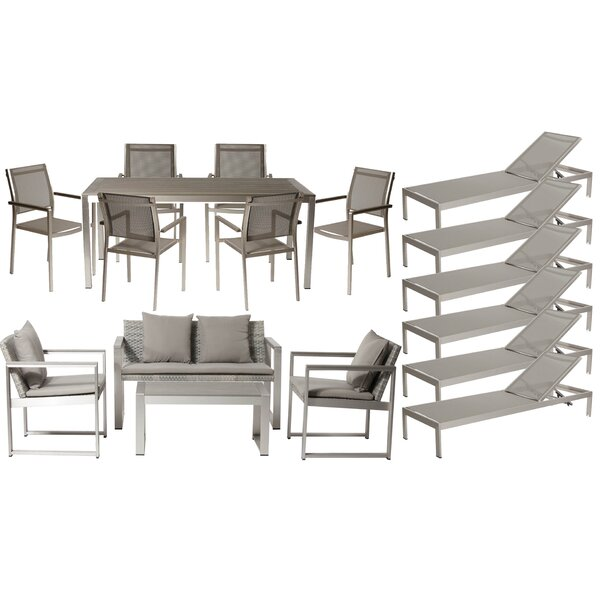 CHSTR 17 Piece Complete Patio Set with Cushions by Wade Logan