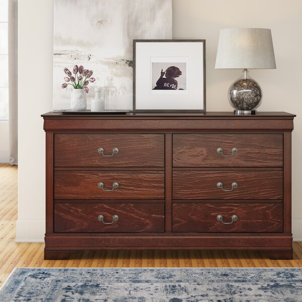 Dwyer 6 Drawer Double Dresser by Three Posts