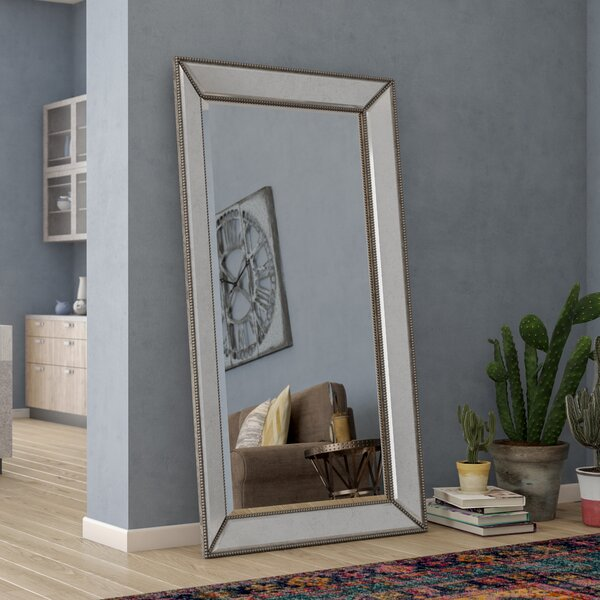 Bemelle Beaded Leaner Mirror by Trent Austin Desig