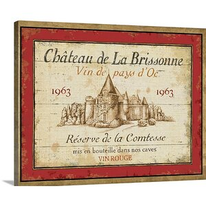 French Wine Labels I by Daphne Brissonnet Vintage Advertisement on Wrapped Canvas by Great Big Canvas