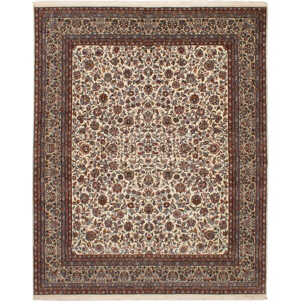 One-of-a-Kind Hamlet Hand-Knotted Wool Cream Area Rug by Isabelline