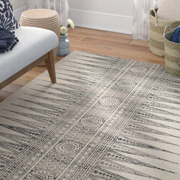 Elson Ivory/Gray Area Rug by Mistana