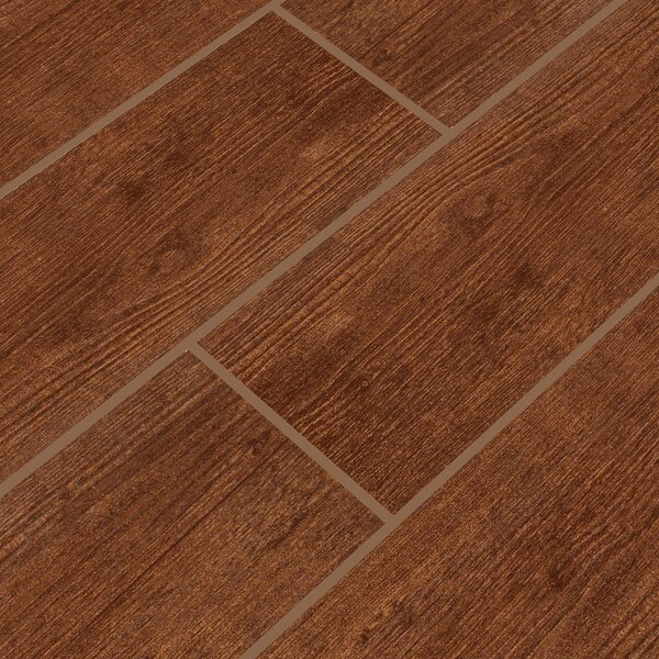 Sonoma Oak 6 x 24 Ceramic Wood Tile in Brown by MSI