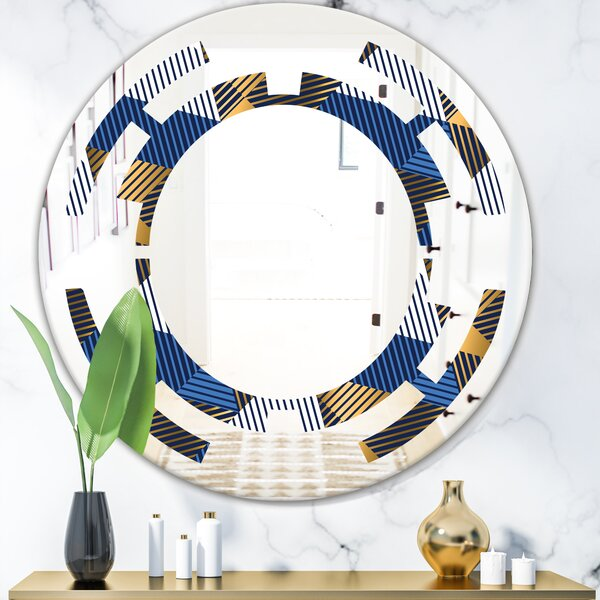 Space Luxury Waves V Modern Frameless Wall Mirror