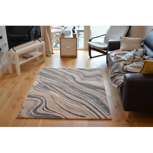 Shortridge Ocean Cut Pile Beige/Blue Rug Metro Lane Rug Size: Runner 80 x 300cm