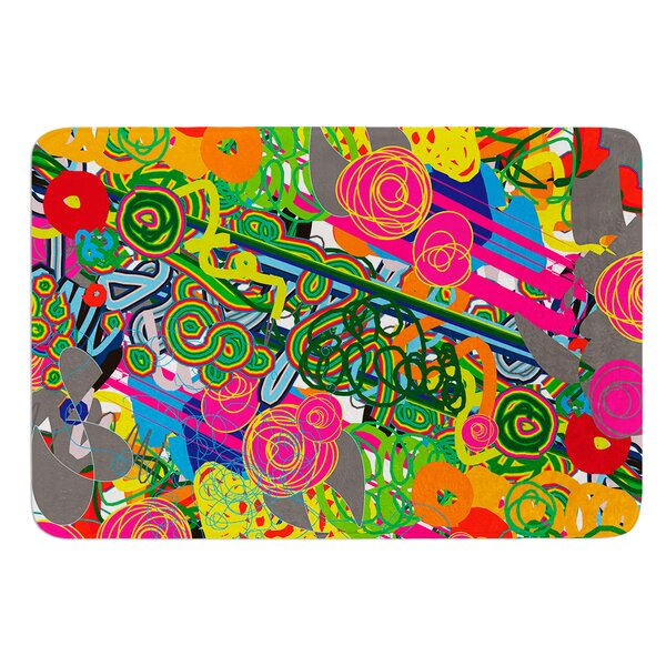 Psychedelic Garden by Frederic Levy-Hadida Bath Mat by East Urban Home