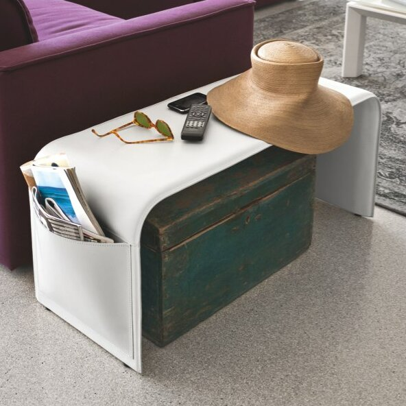 Genuine Leather Storage Bench by Calligaris