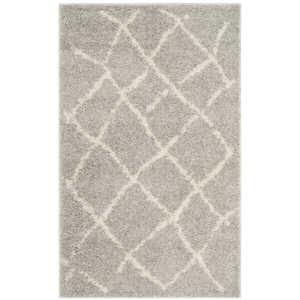 Zettie Light Gray/Cream Area Rug by Bungalow Rose