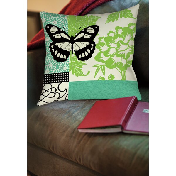 Butterfly Journey 2 Printed Throw Pillow by Manual Woodworkers & Weavers