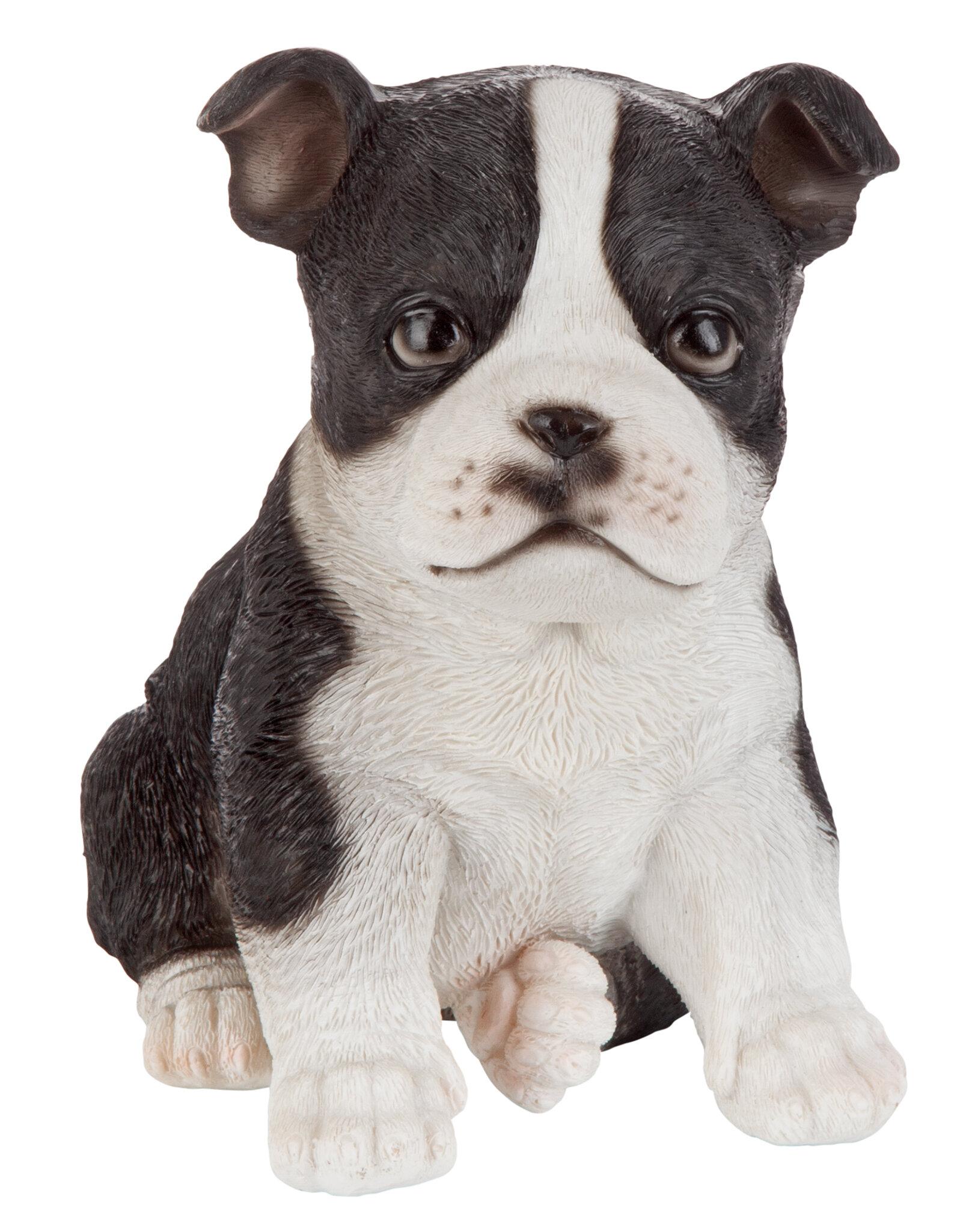 Black /& White Jack Russell Digging Dog Garden Ornament