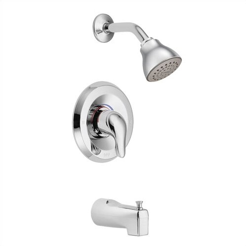 Chateau Tub and Shower Faucet with Lever Handle and Posi-Temp by Moen