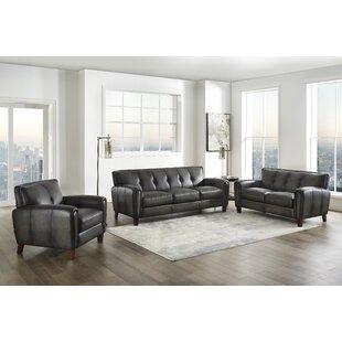 Allia Leather Standard Configurable Living Room Set by Red Barrel Studio®