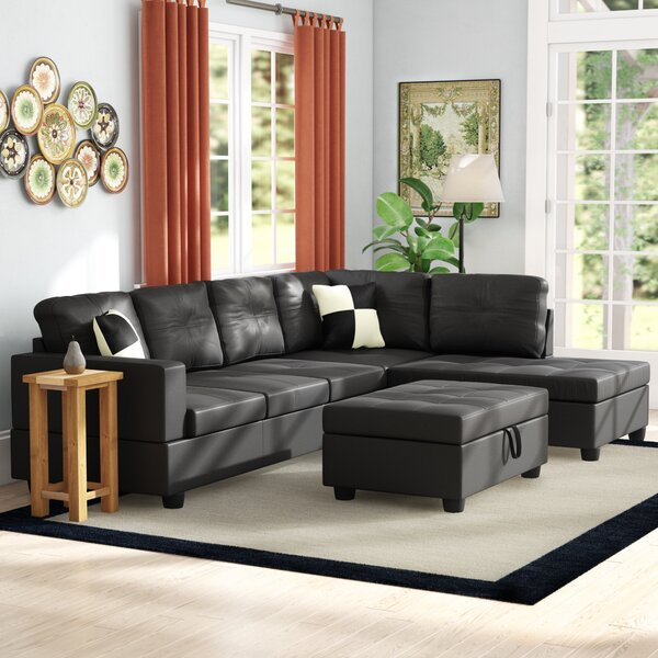 Maumee 138-inch Sectional With Ottoman By Winston Porter
