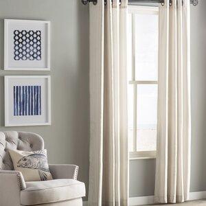 Healdville Striped Room Darkening Grommet Single Curtain Panel