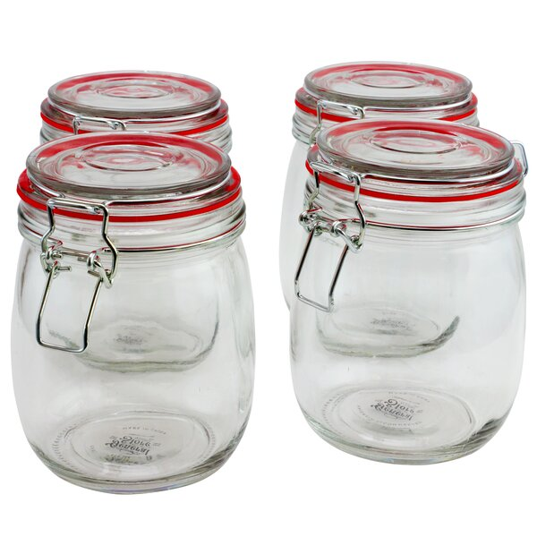 Lilith Chic 22 Oz. Storage Jar (Set of 4) by Gracie Oaks