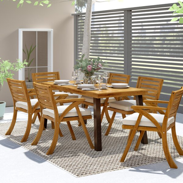 7 Piece Dining Set with Cushions by Langley Street