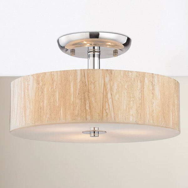 Jose 3-Light Semi Flush Mount by Bay Isle Home