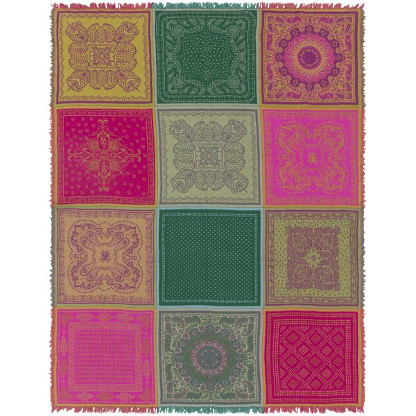 Freese Wool Throw Blanket by Bungalow Rose