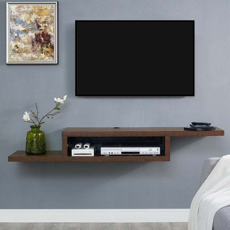 Ascend 60 Quot Asymmetrical Wall Mounted Tv Component Shelf