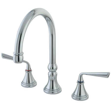 Silver Sage Double Handle Kitchen Faucet with Side Sprayer by Kingston Brass