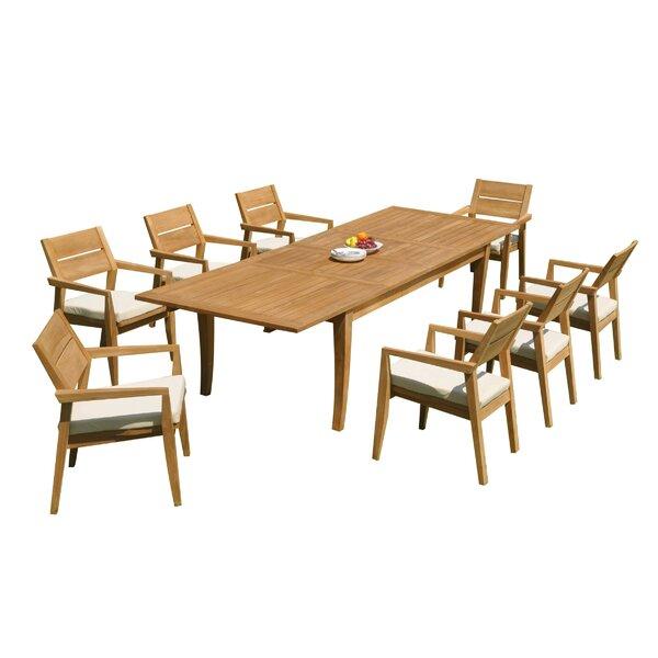 Atnas 9 Piece Teak Dining Set by Teak Smith