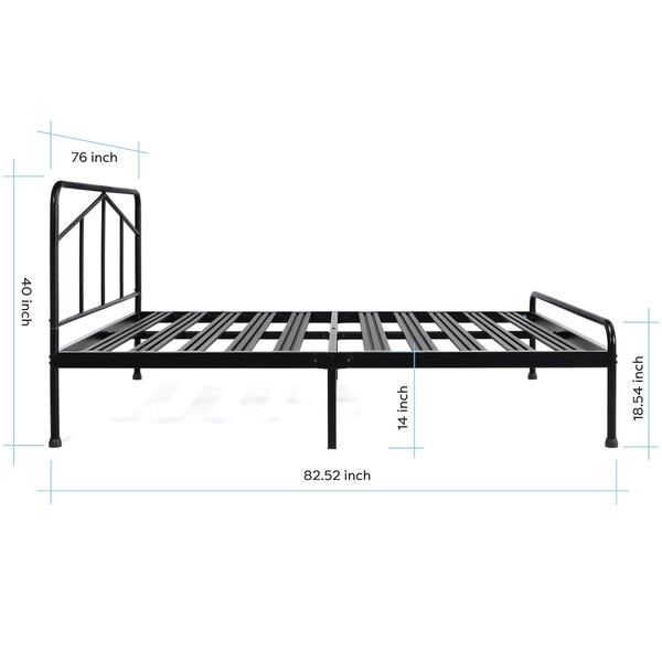 Sneyd Park Model Steel Platform Bed Frame by Red Barrel Studio