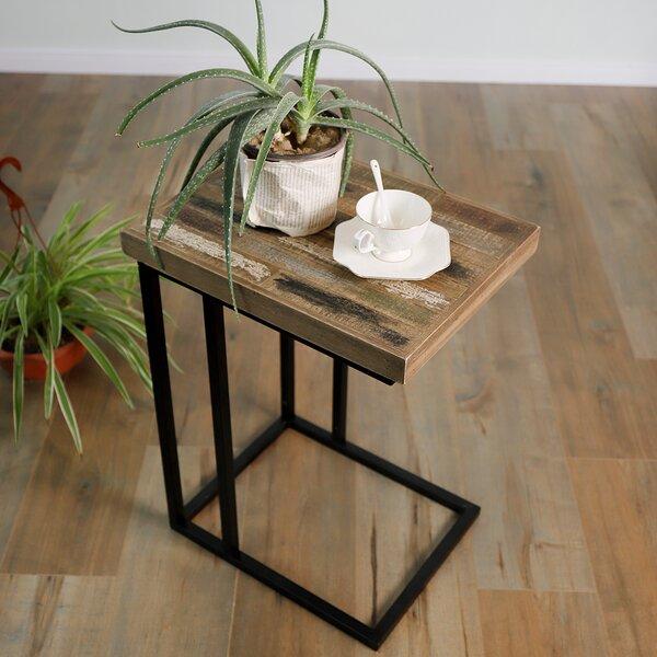 Korando Pinewood C Shape End Table by Williston Forge