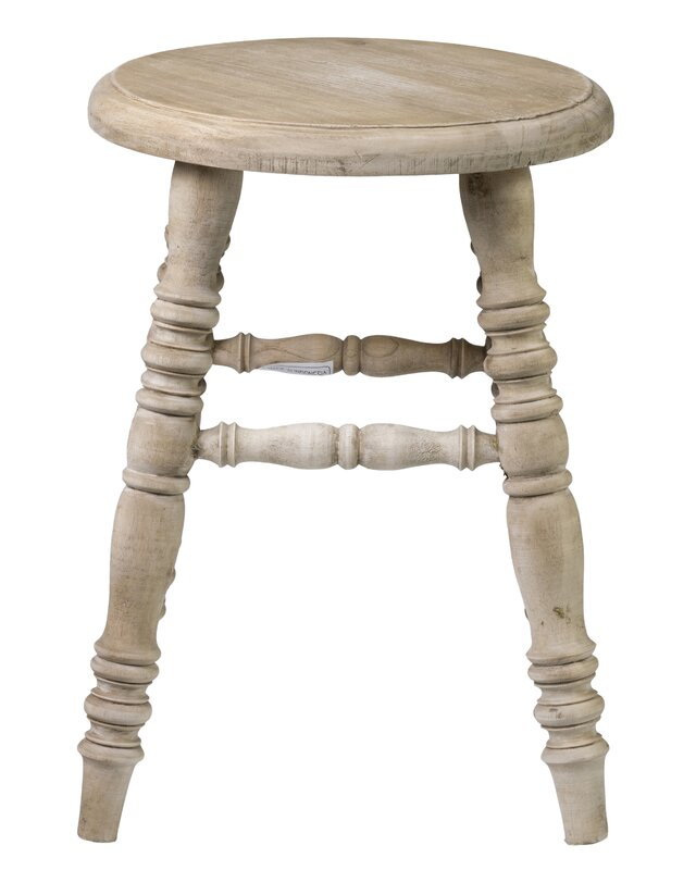 Farmhouse Teak Stool. Steal this Look! Collected European Farmhouse Home Decor #FrenchFarmhouse #farmhousestool #rusticdecor