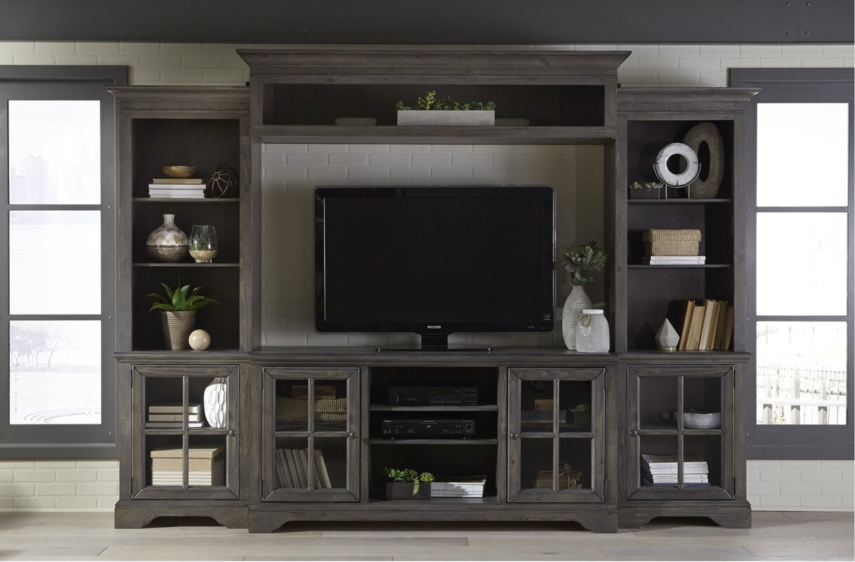 three posts zurich entertainment center reviews wayfair. Black Bedroom Furniture Sets. Home Design Ideas