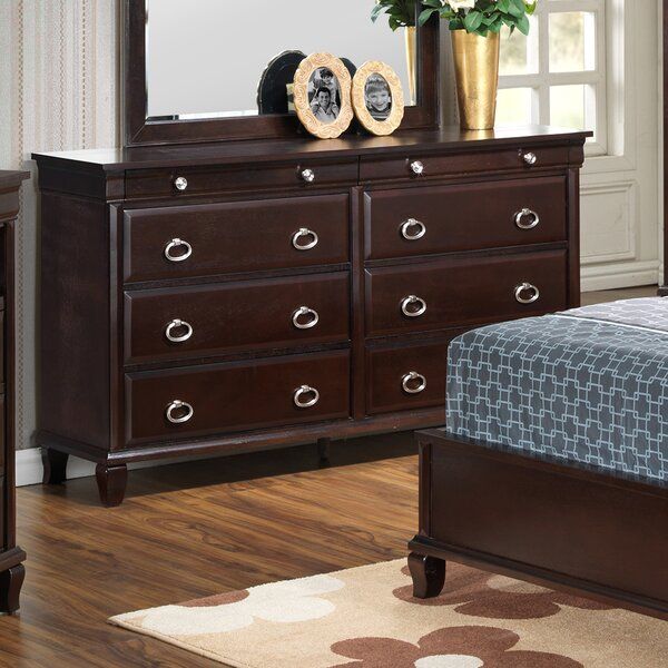 Ambrosina 8 Drawer Double Dresser with Mirror by Astoria Grand