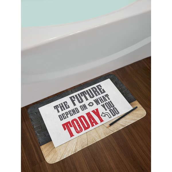 Wise Quote Bath Rug by East Urban Home