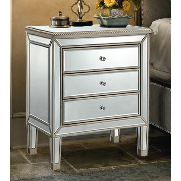 Beaty 3 Drawer Nightstand by House of Hampton