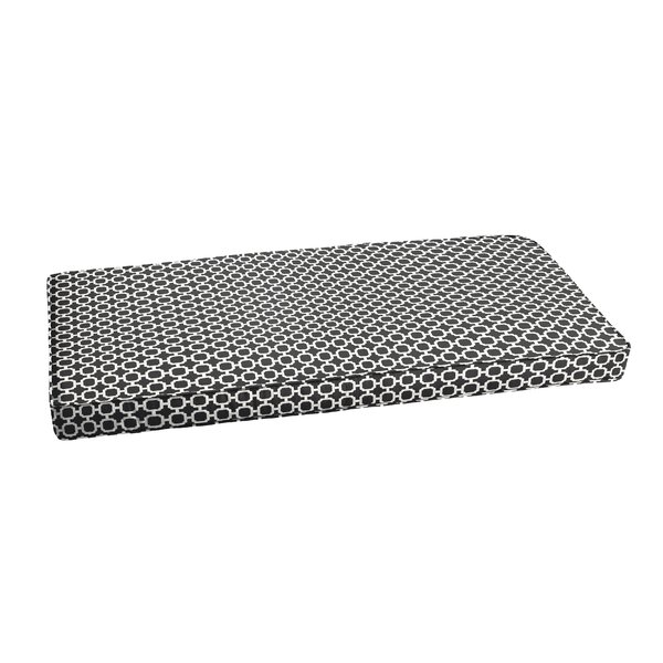 Samantha Geometric Piped Indoor/Outdoor Bench Cushion by Latitude Run