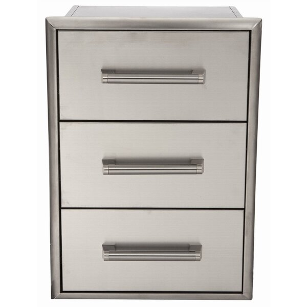 Stainless 3 Drawer Cabinet by Coyote Grills