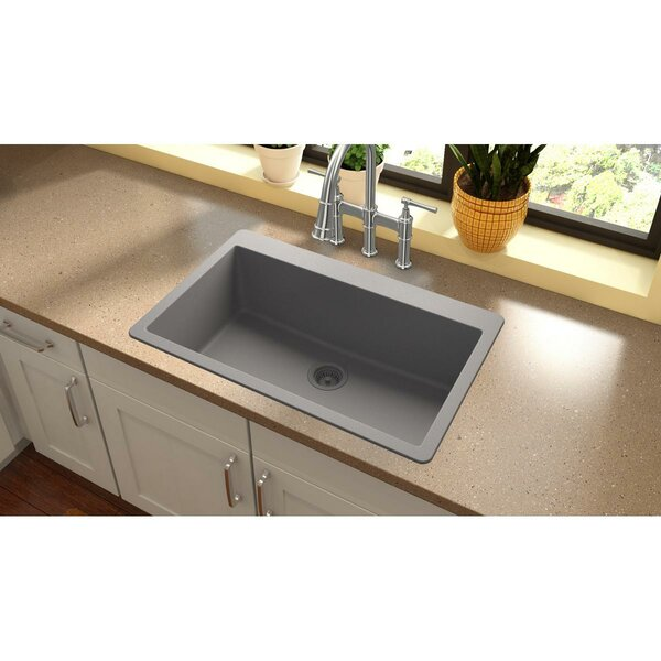Quartz Classic 33 L x 20.87 W Top Mount Kitchen Sink by Elkay