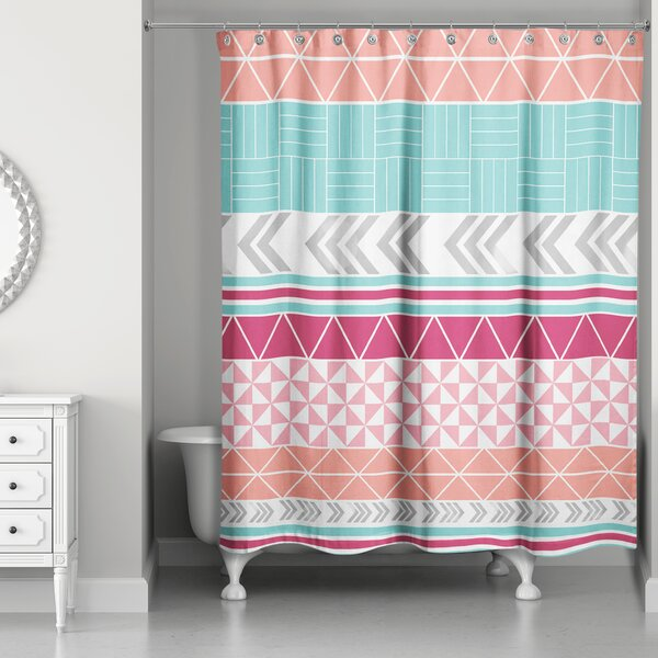 Hector Boho Tribal Shower Curtain by Bungalow Rose