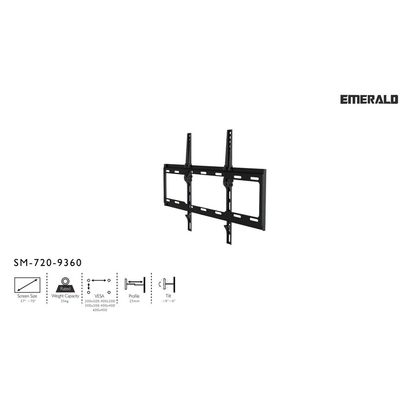Gforce Tilt Tv Wall Mount Universal For 37 70 Flat Panel Screens