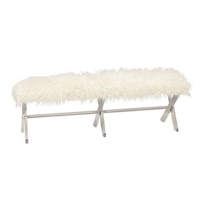 Acrylic Faux Fur Bench by Cole & Grey