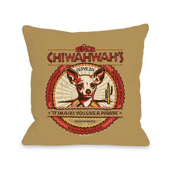 Doggy Décor Senior Chiwahwah Throw Pillow by One Bella Casa