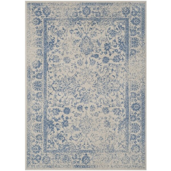 Hoyer Ivory/Light Blue Area Rug by Laurel Foundry Modern Farmhouse