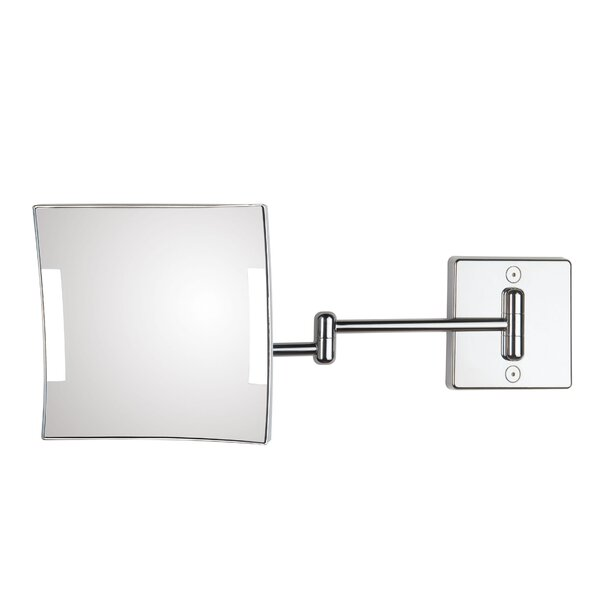 Quadrolo 2-Arm Cable and Plug LED Magnifying Mirror by WS Bath Collections