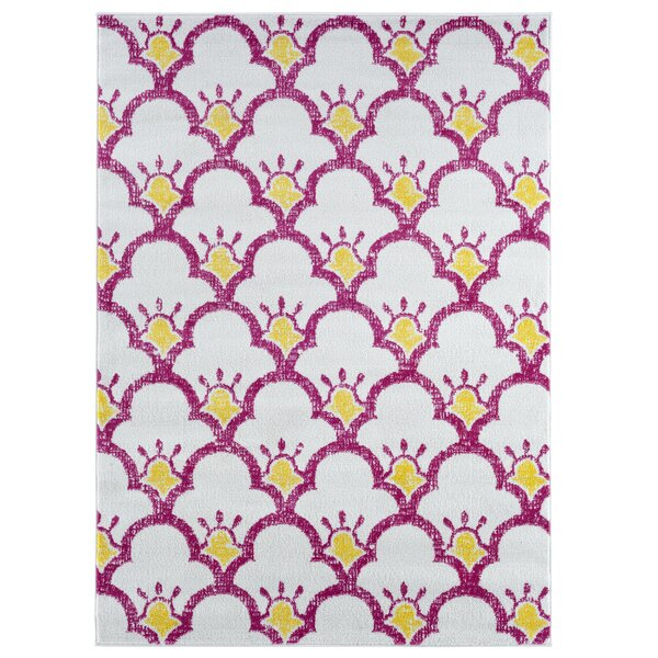 Carlwirtz Pink/Cream/Yellow Area Rug by Harriet Bee