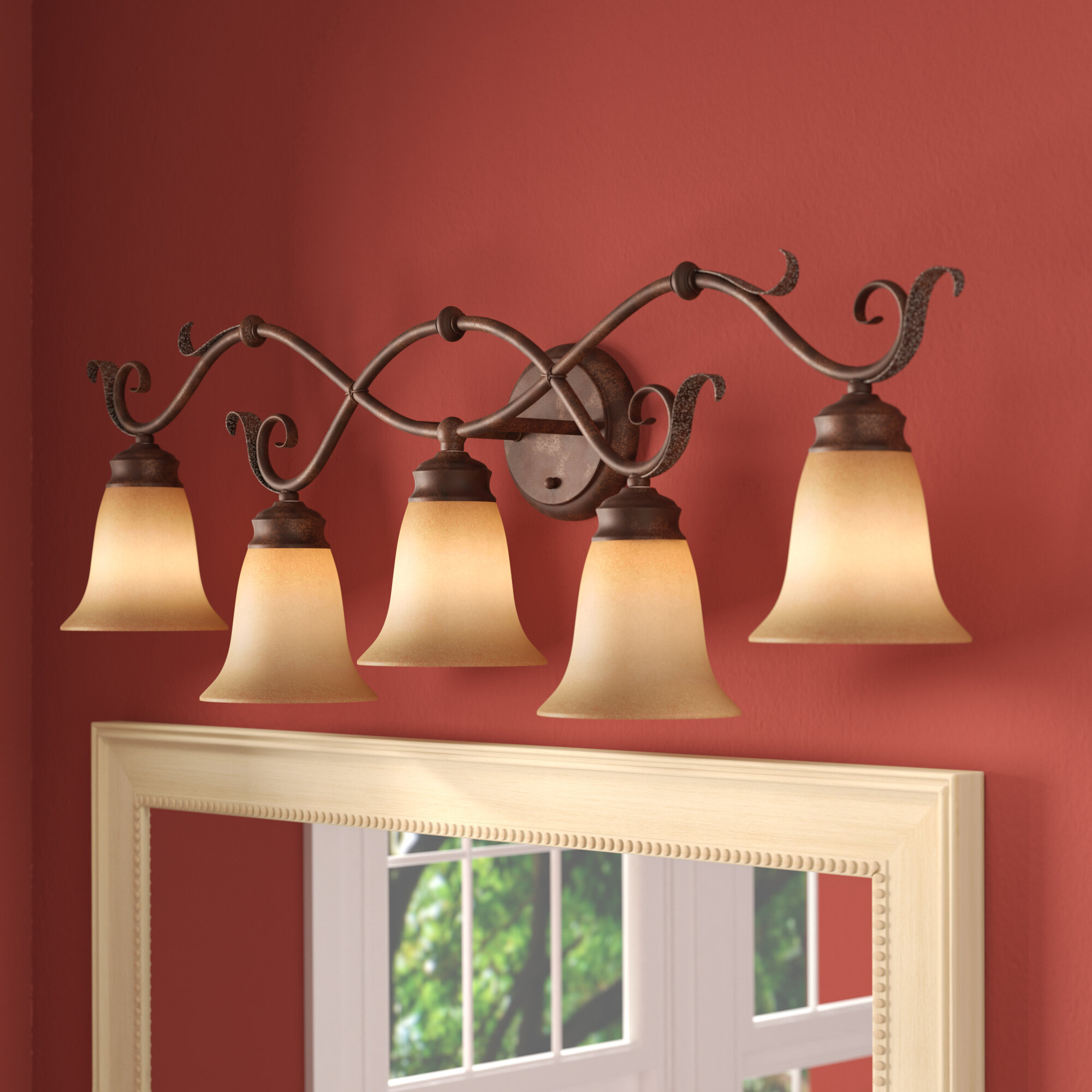 Kimberly 5 Light Dimmable Vanity