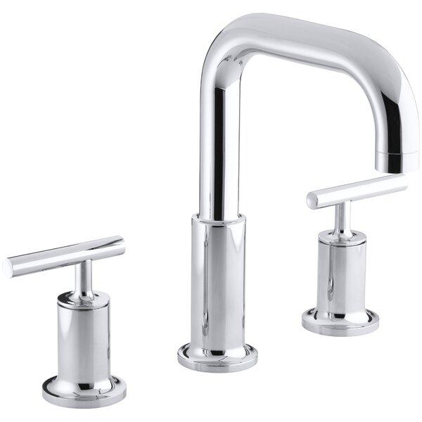 Purist for Two Deck-Mount Bath Faucet Trim for High-Flow Valve with Lever Handles Valve Not Included by Kohler Kohler