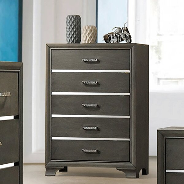 Plemmons 5 Drawer Chest by House of Hampton